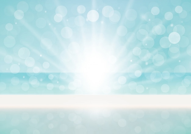 Natural background with bokeh effect Free Vector