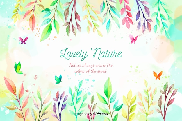 Natural background with quote Free Vector