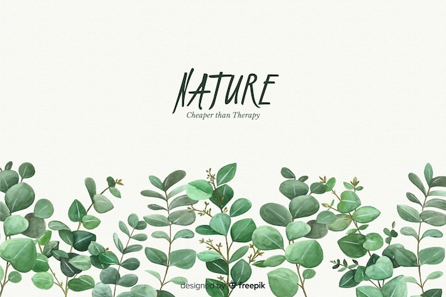Natural background with quote Premium Vector