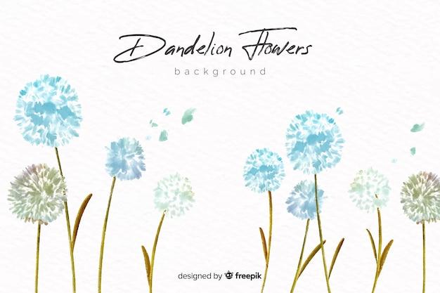 水彩画の花と自然の背景 Premiumベクター