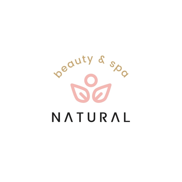 Natural beauty and spa logo design illustration Free Vector