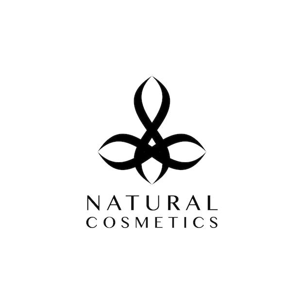 Natural cosmetics design logo vector Free Vector