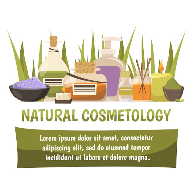 Natural cosmetology banner Free Vector