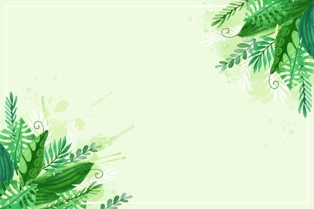 自然なエキゾチックな葉の背景 無料ベクター