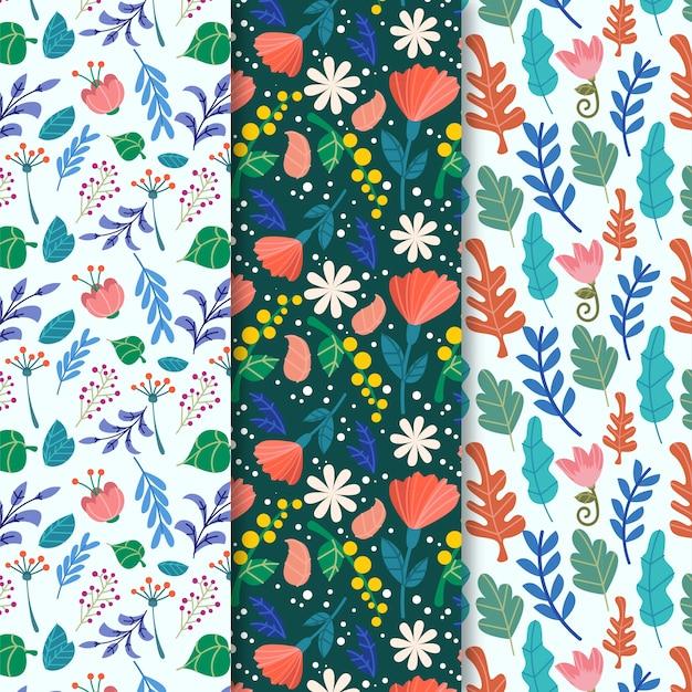 春の花のシームレスなパターン 無料ベクター