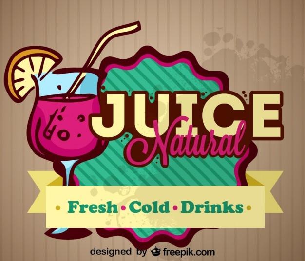 Natural Fresh Fruit Juice Retro Label Design 23 Stock Images Page Everypixel