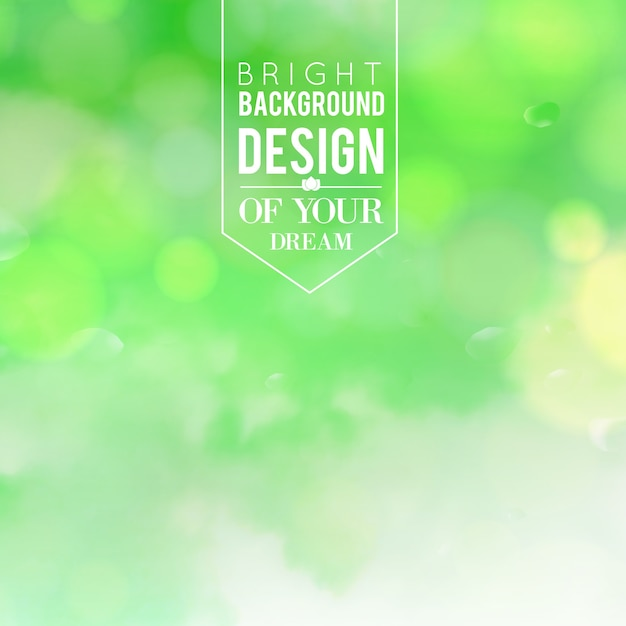 Natural green blurred background. Free Vector