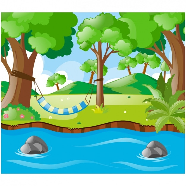 Natural landscape background