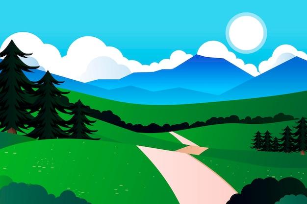 自然景観会議の背景 無料ベクター