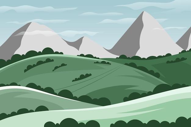 自然の風景の壁紙のテーマ 無料ベクター