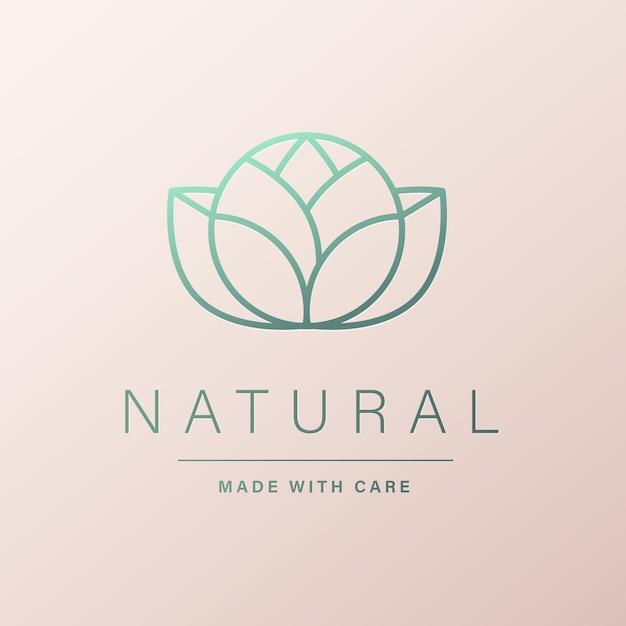 브랜딩 및 기업 정체성을위한 자연스러운 로고 디자인 무료 벡터