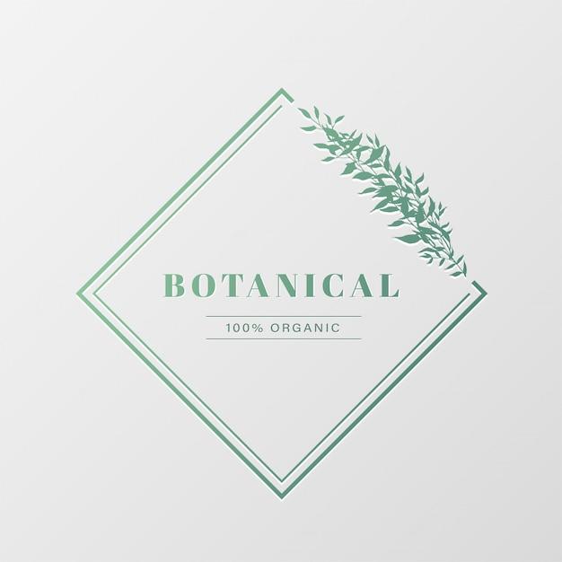 ブランディング、コーポレートアイデンティティのための自然なロゴデザイン。 無料ベクター