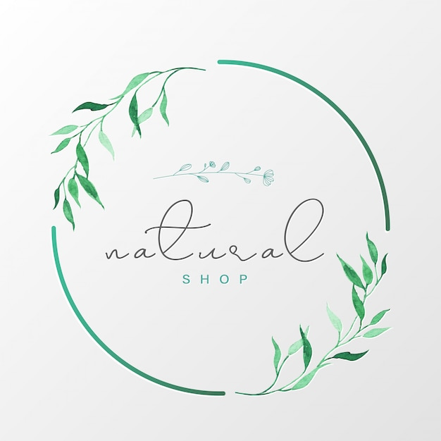 Natural logo design template for branding, corporate identity, packaging and business card. Free Vector