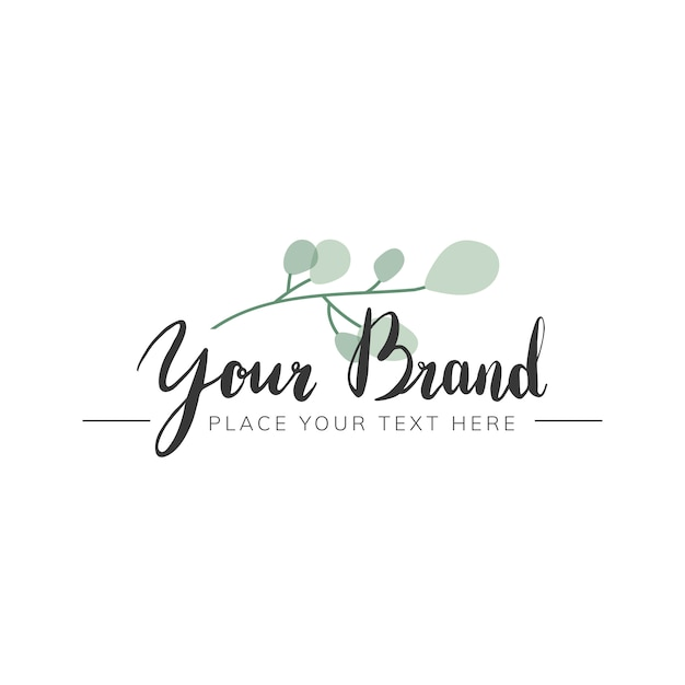 Natural logo design Free Vector