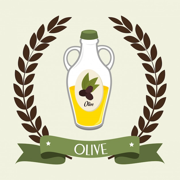 Natural olive oil Free Vector