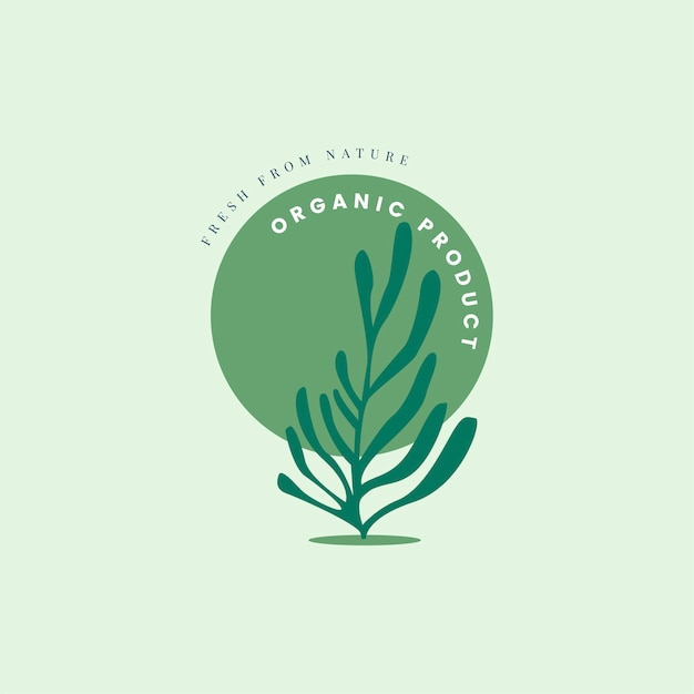 Natural and organic product icon Free Vector