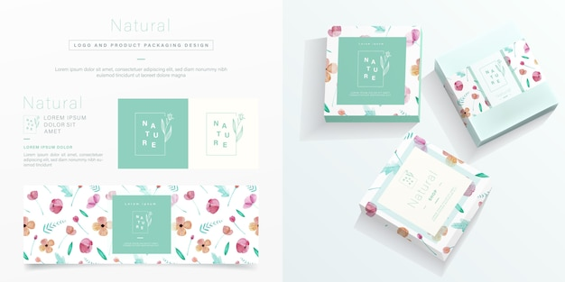 Natural packaging in minimalist style. Premium Vector