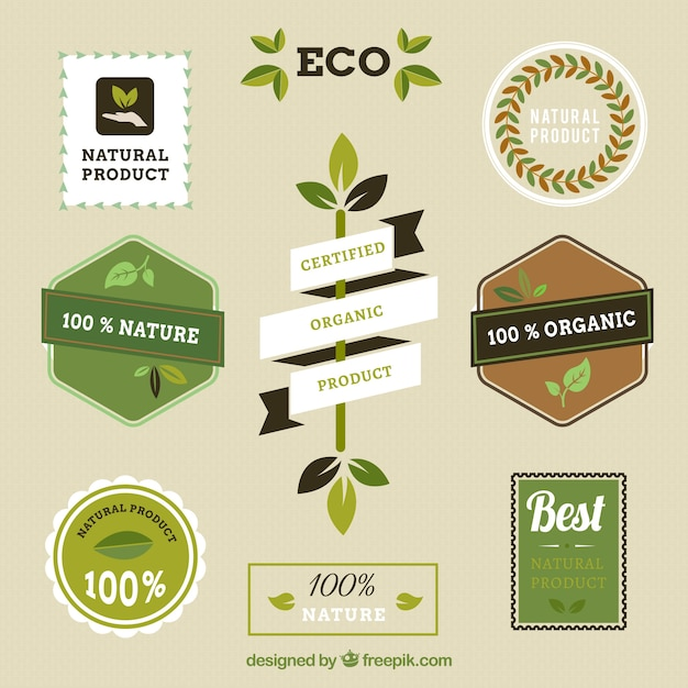 natural product labels vector free download