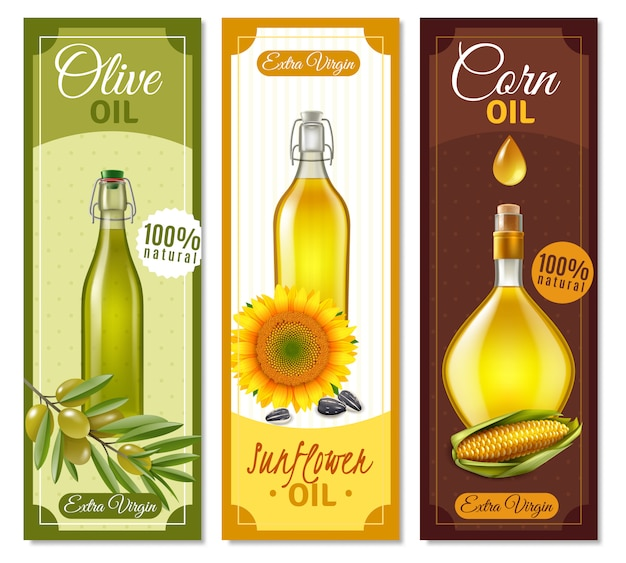 Natural product realistic banners Free Vector