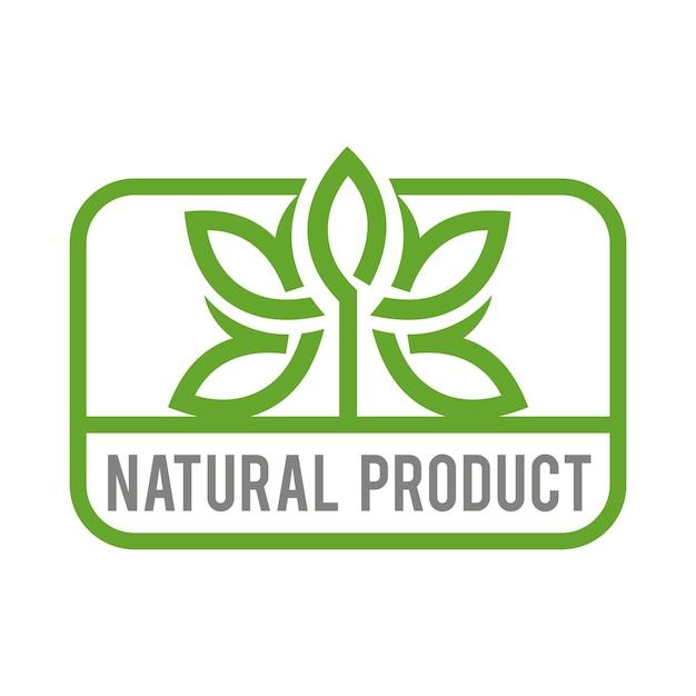 natural products logo vector premium download