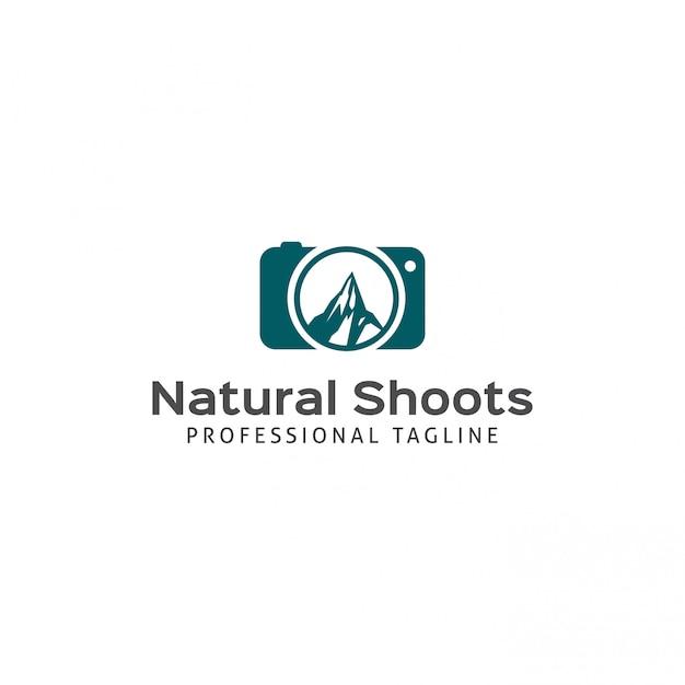 Natural shoots logo Premium Vector