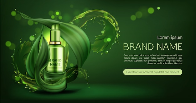 Natural skin care cream banner Free Vector