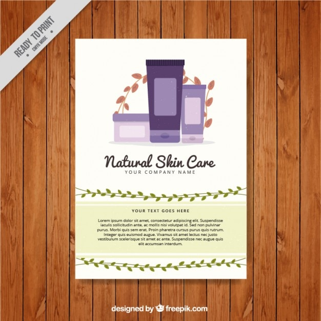 Natural Skin Care Products Flyer Vector Free Download