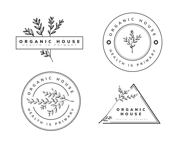 Шаблон логотипа природы и органических Premium векторы