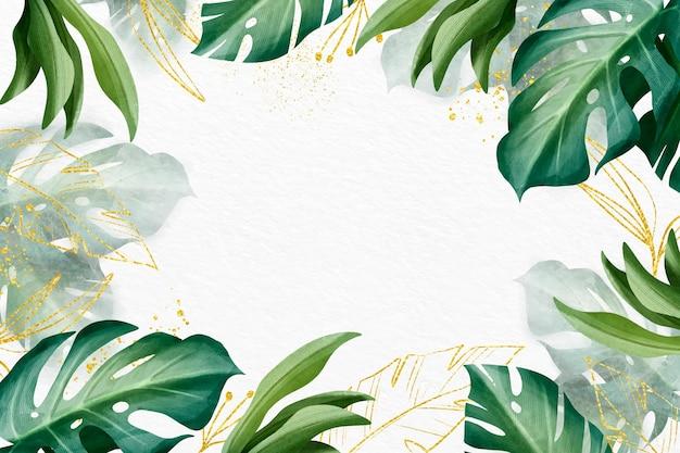 Disegno di sfondo della natura con lamina d'oro Vettore gratuito