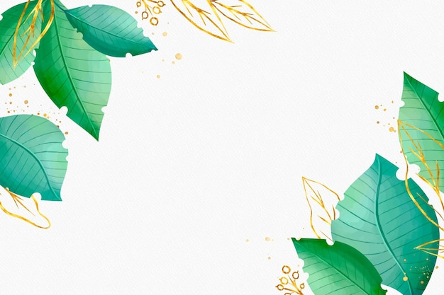 Nature background with golden foil Free Vector