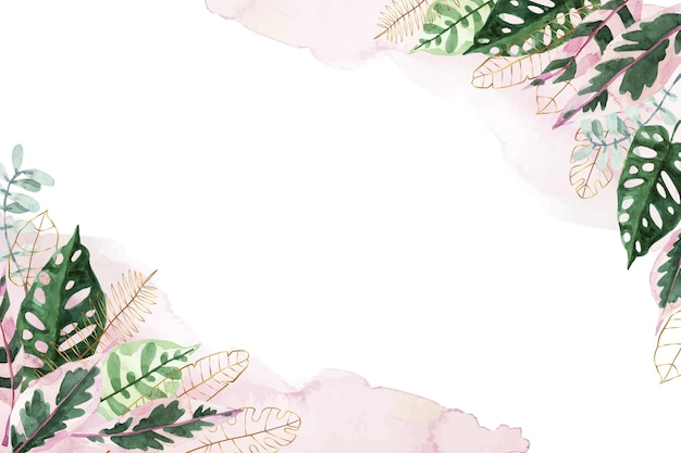 Nature background with golden foil Premium Vector