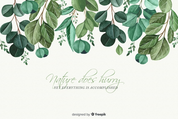 Nature background with quote Premium Vector