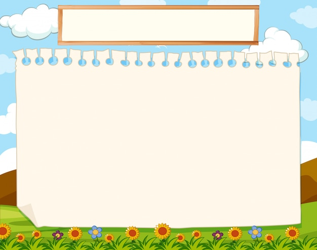 A nature blank note Free Vector