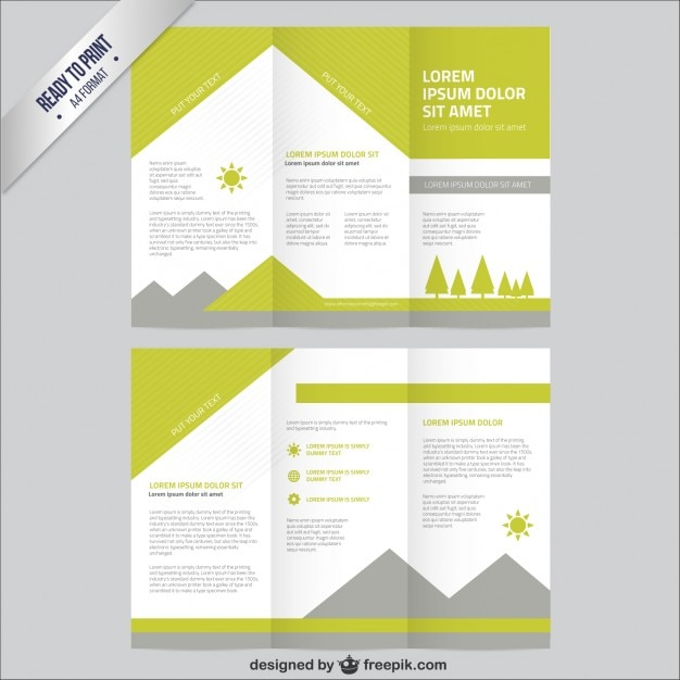 Nature brochure template vector free download for Brochure free templates