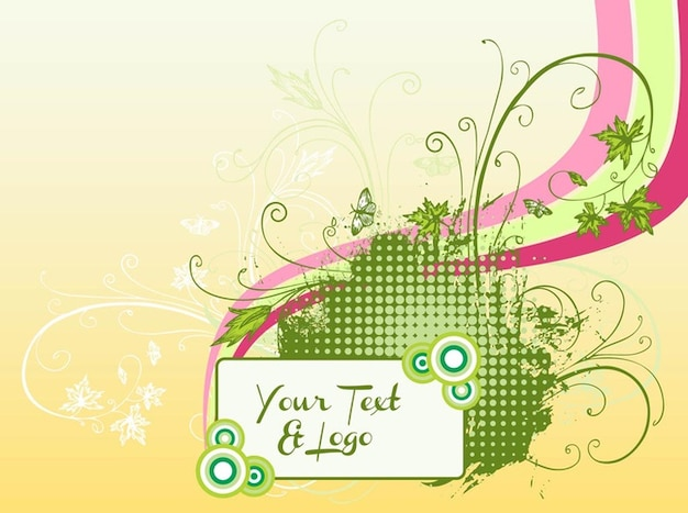 Nature butterfly invitation template vector Vector | Free Download