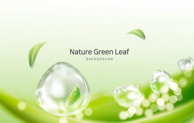 Nature, clean air spring leaves Premium Vector