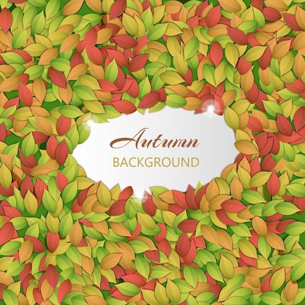 紅葉と自然カラフルな背景 無料ベクター
