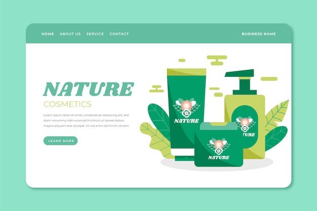자연 화장품 방문 페이지 무료 벡터