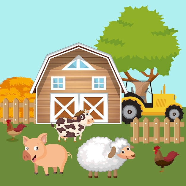 Nature and country concept Premium Vector