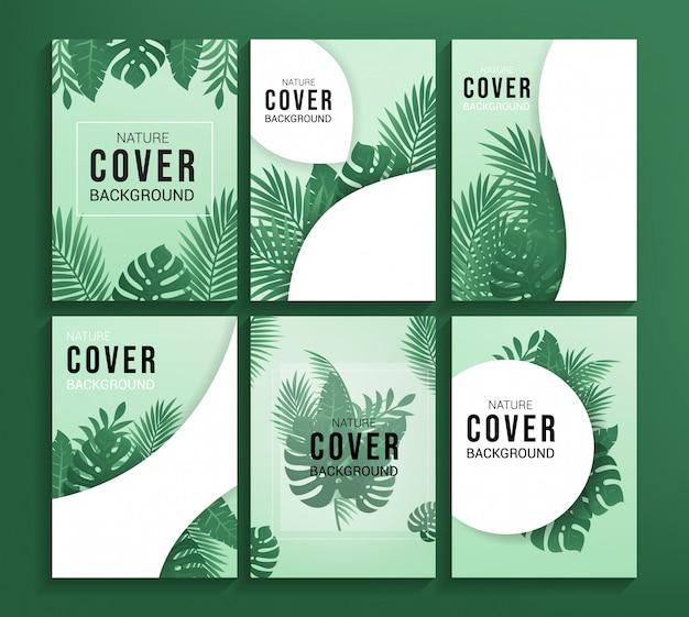 Nature cover background Premium Vector