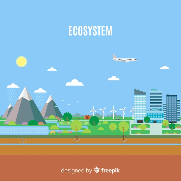 Nature and ecosystem concept Free Vector