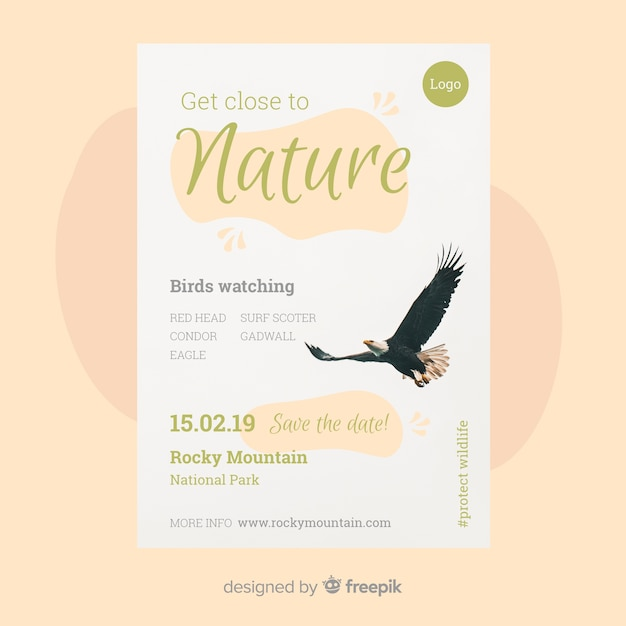 Nature flyer template Free Vector
