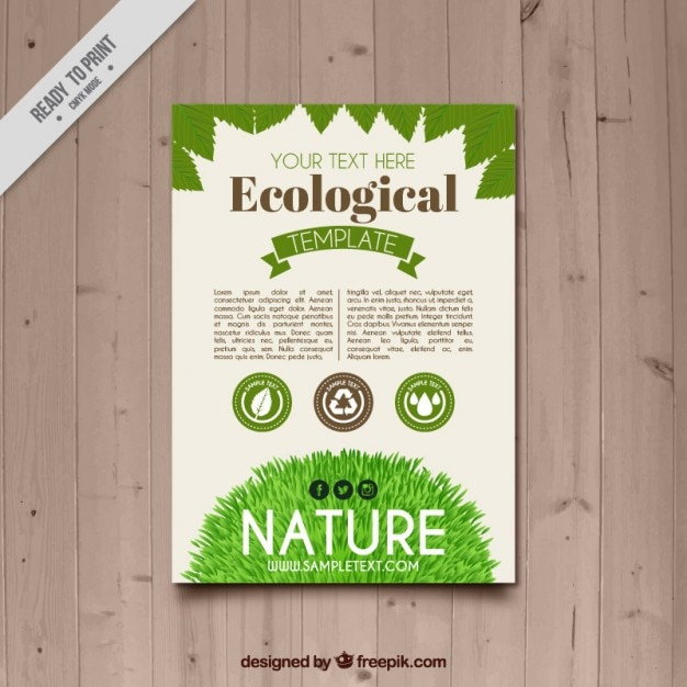 Nature Flyer Vector Free Download