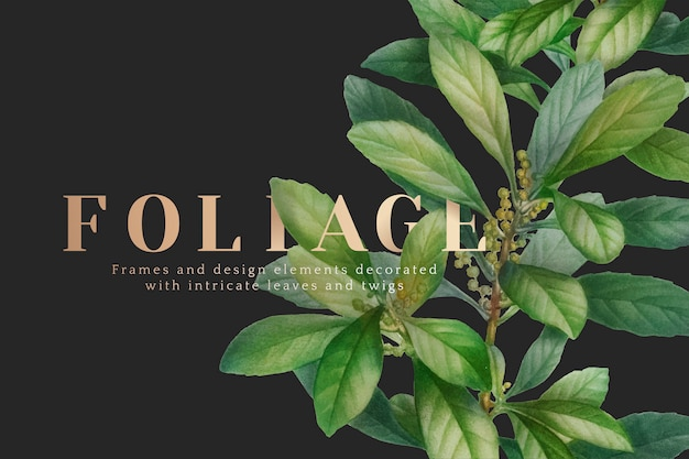 Nature foliage wallpaper Free Vector