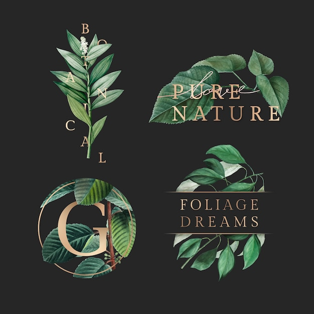 Nature foliage wallpaper Free Vector