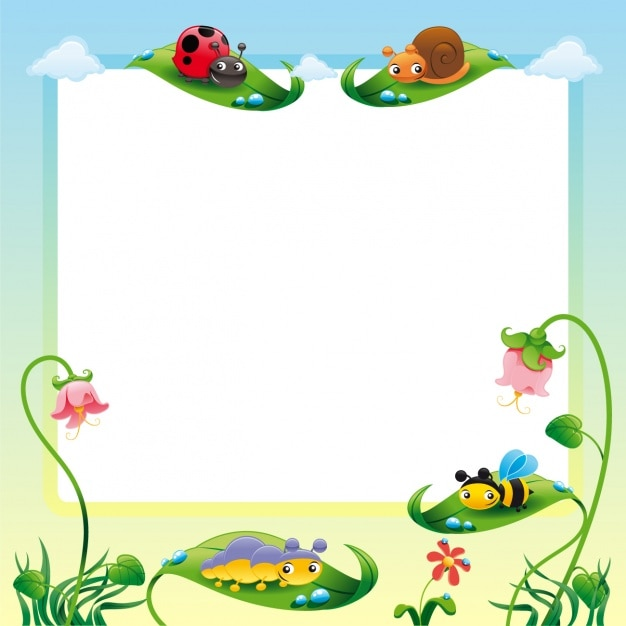 nature frame design free vector