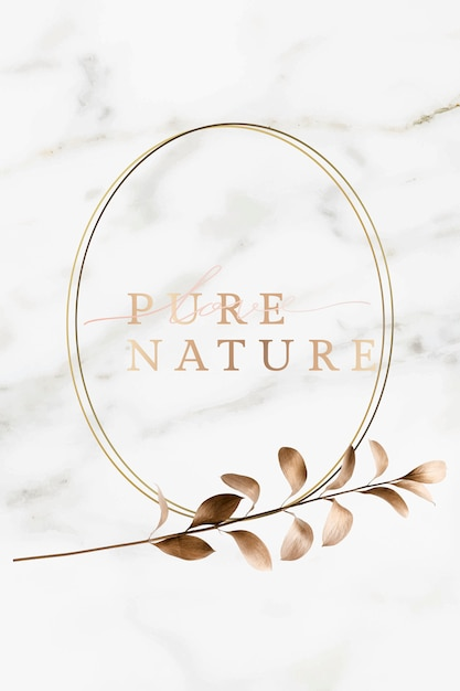 Nature frame on marble Premium Vector