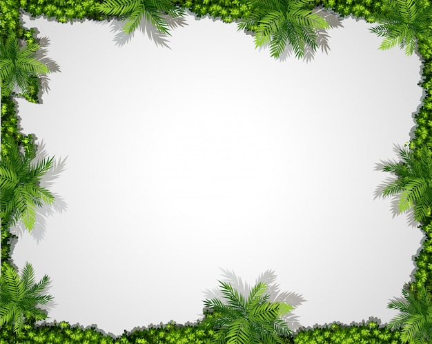 A nature green border background Free Vector
