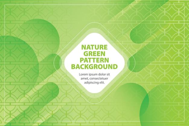 Nature green pattern shape background Premium Vector