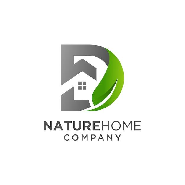 Nature home logo design Premium Vector